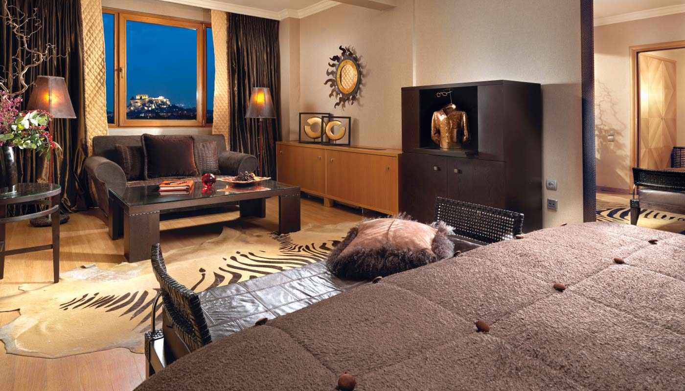 Divani Caravel Hotel - Acropolis View Suite - Living Room