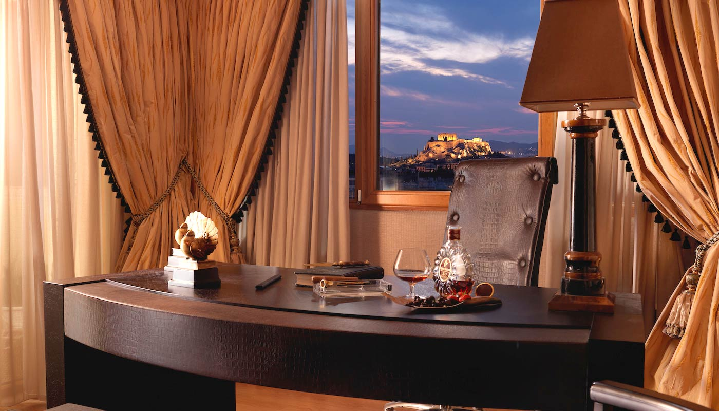 Divani Caravel Hotel - Presidential Suite 701 - Executive Desk Acropolis View