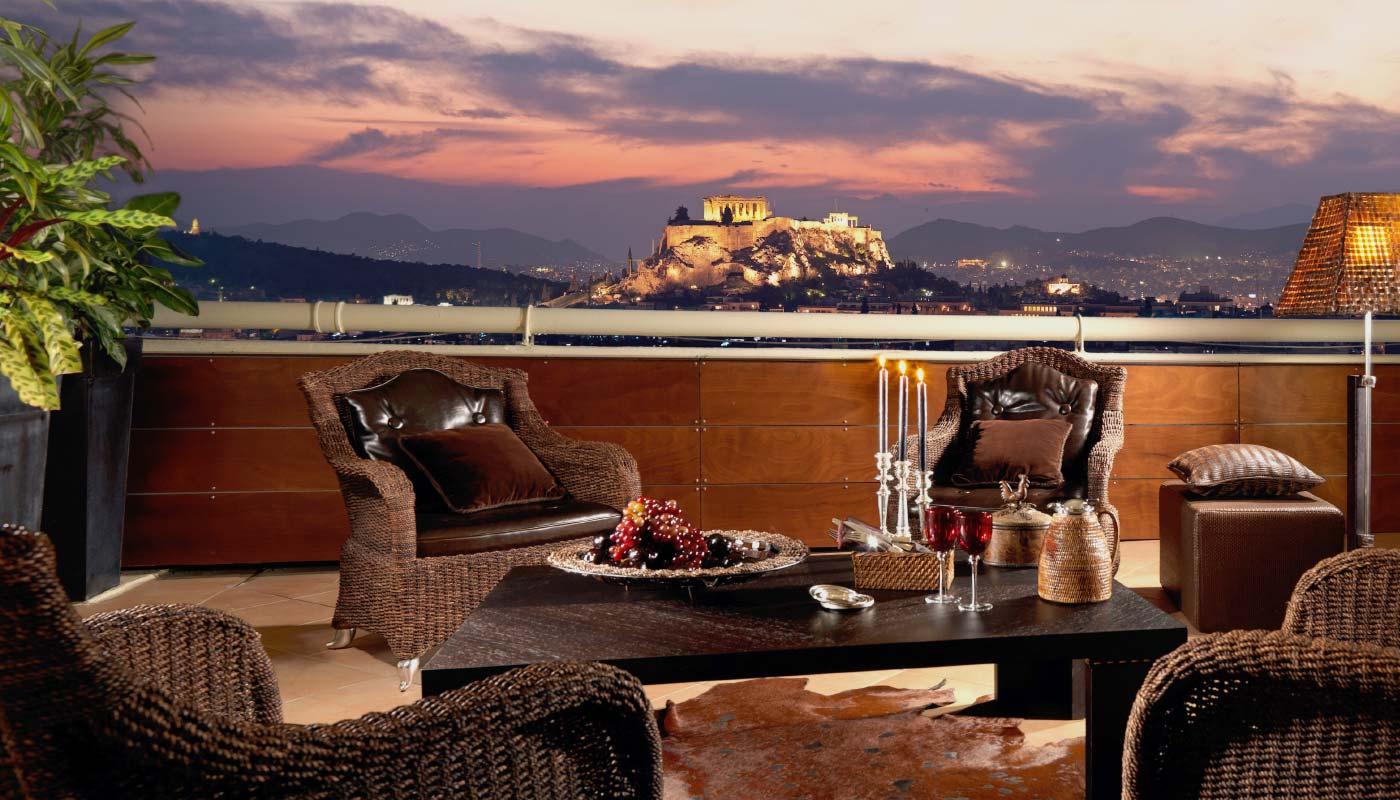 Divani Caravel Hotel - Presidential Suite 815 - Balcony Acropolis View