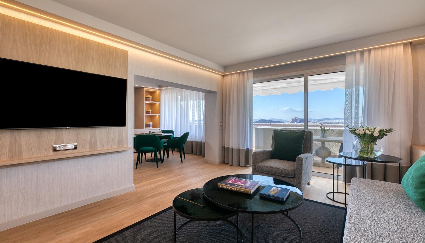 Divani Caravel Hotel - Divine Acropolis View Suites - Living Room