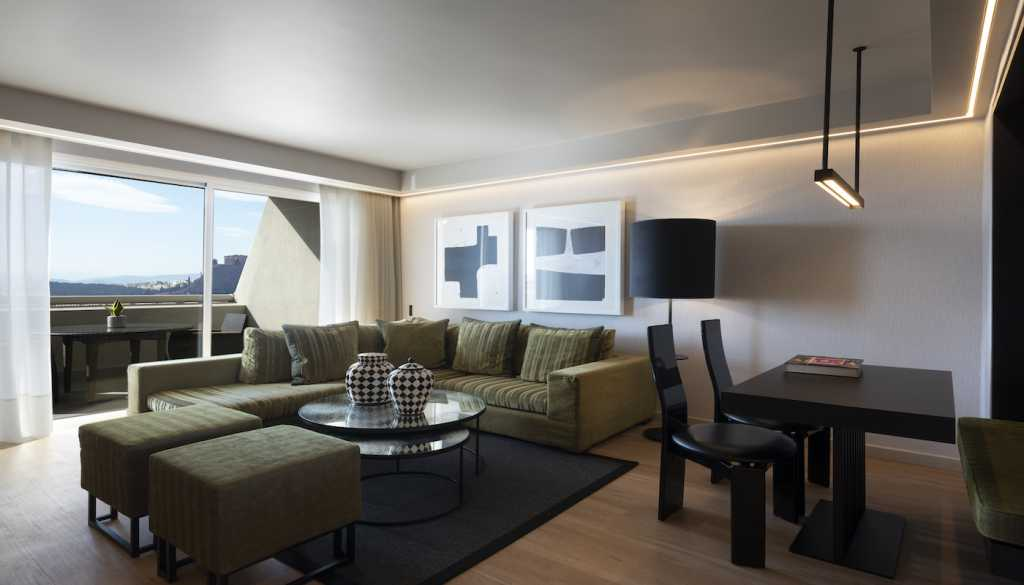 Divani Caravel Hotel - Divine Acropolis View Suite - Living Room and Terrace
