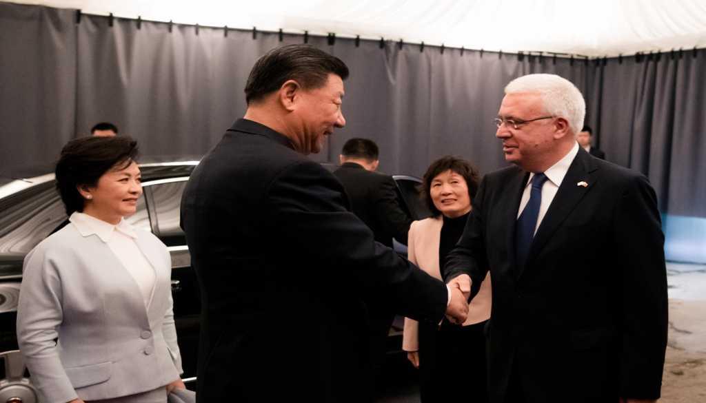 Xi Jinping Chinese President at Divani Caravel